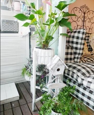 简单机械构造的收纳魔力 一颗开花的树 打造时尚小资阳台 12个阳台