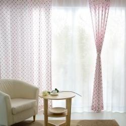 【易可纺—可爱圆点】可爱波点女孩公主风卧室儿童房窗帘