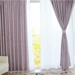 【易可纺—格致】格子遮光加厚窗帘