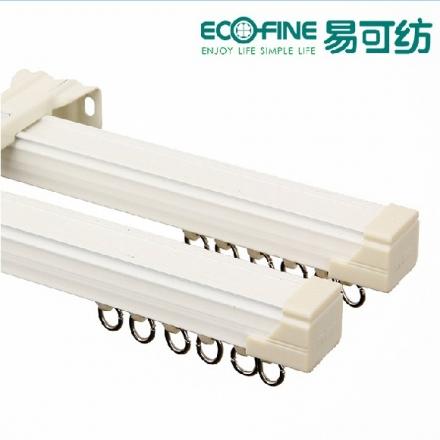 【配件—带胶条中方轨】易可纺静音铝合金单双直轨