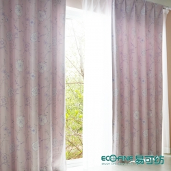 【花开富贵】易可纺牡丹素雅遮光成品窗帘