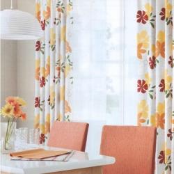 【三色花】中式田园风全遮光成品窗帘