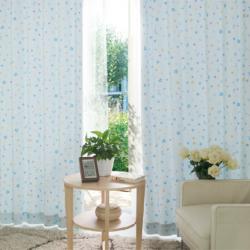 【星月童话】易可纺卡通田园蓝色粉色韩式儿童房窗帘