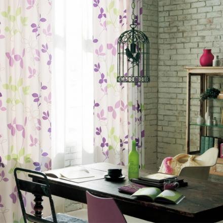 【春羽】高端隔热防紫外线窗帘 田园印花树叶窗帘