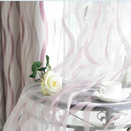 【窗纱—舞动】现代简约飘逸柔软条纹窗纱