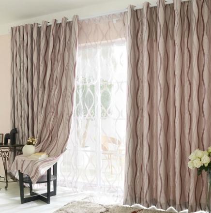 【研磨时光】时尚现代条纹遮光易可纺窗帘
