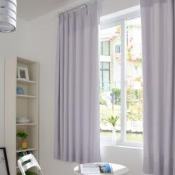 【优雅】易可纺现代简约纯色遮光窗帘 防晒物理遮光