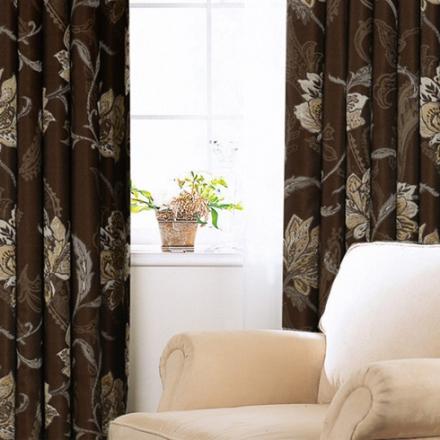 【蔓延】易可纺高档欧式复古色织大提花全遮光窗帘