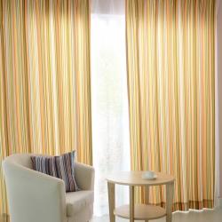 【浪漫彩虹】易可纺彩色竖条纹女孩房儿童房彩条窗帘