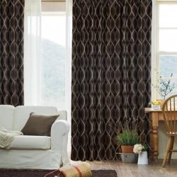 【魅网】易可纺高档大提花全遮光窗帘布加厚条纹客厅遮阳布