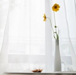 【流沙】易可纺白色窗纱成品高档卧室客厅窗纱窗帘布料阳台飘窗窗帘纱