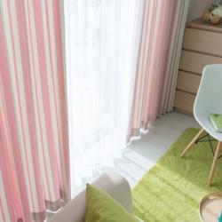 【亲子条】易可纺卧室窗帘定制条纹地中海成品窗帘客厅高档儿童防晒窗帘隔热
