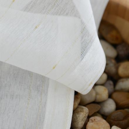 【流星点点】易可纺定制白色窗纱金丝绣线成品现代简约仿亚麻窗帘布料卧室客厅窗纱