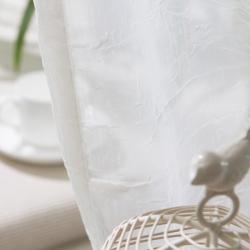 【波光粼粼】易可纺立体褶皱波纹客厅卧室窗纱窗帘布料纯色飘窗窗帘纱定制 窗纱