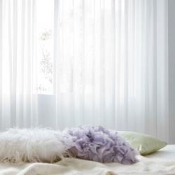 【朦胧】白色窗帘纱纯色高档窗纱儿童定制窗帘成品客厅飘窗窗纱布料